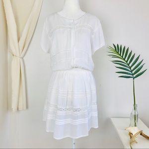 Aritzia Dresses - Aritzia Talula White Gauzy Kisset Eyelet Dress